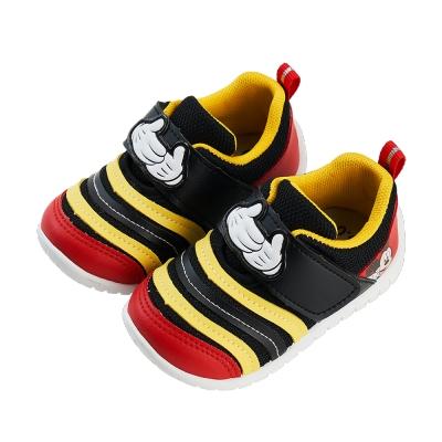 迪士尼童鞋 米奇 立體異材質拼接寶寶休閒鞋