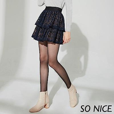 SO NICE優雅蕾絲蛋糕短裙