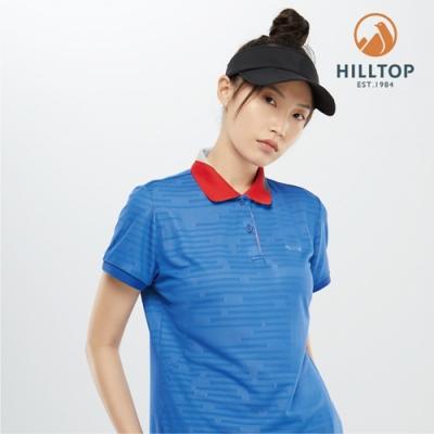 【hilltop山頂鳥】女款吸濕快乾抗菌POLO衫PS14XFG8ECE0淺綠