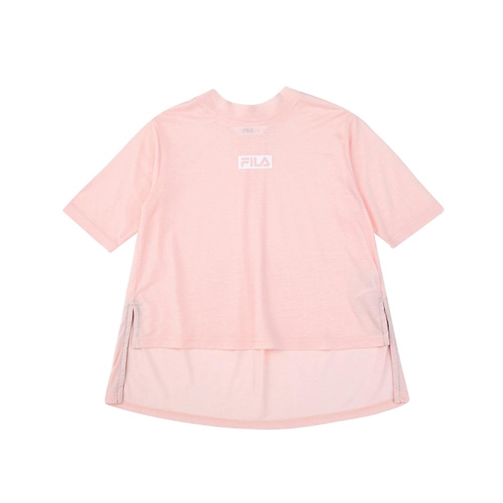 FILA KIDS #架勢新潮 女童五分袖上衣-粉色 5TEV-4416-PK