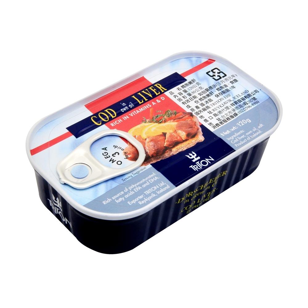 冰島 鱈魚肝(120g)-藍鐵罐