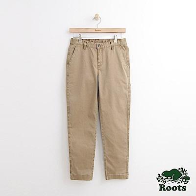 Roots-女裝-斜紋休閒棉褲米