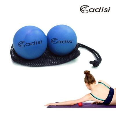 ADISI 瑜珈按摩球 AS16179  2入一組(橡膠.皮拉提斯.體適能.無毒.環保)