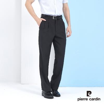 Pierre Cardin皮爾卡登 男裝 小細格紋打摺西裝褲-深灰色 (5217843-98)