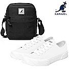 KANGOL簡約復古帆布鞋-共三色(買就贈)YAHOO獨家款品牌小包