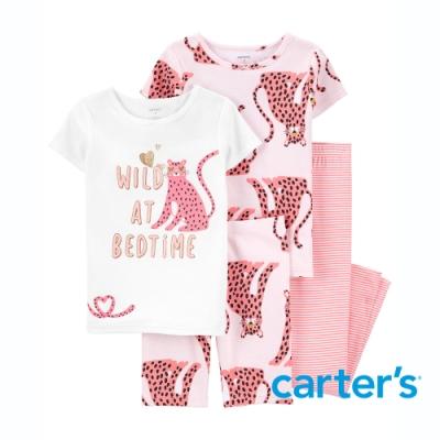 【Carter s】派對小花豹4件組套裝 (短袖上衣/長褲)(5-8)