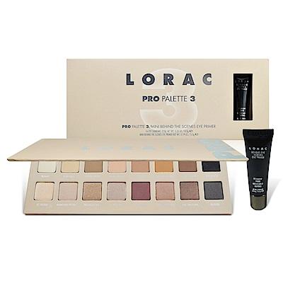 Lorac Pro 3 16色眼影盤+眼部打底膏 5.5g
