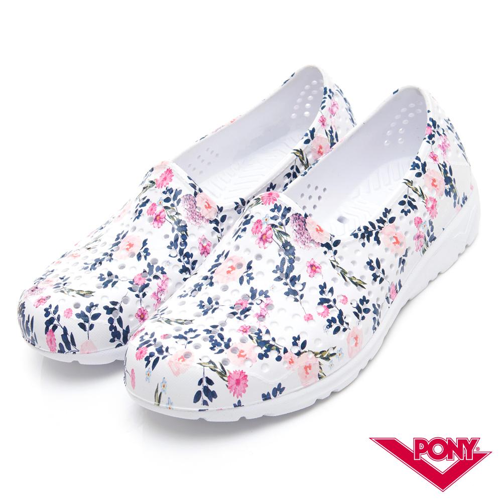 【PONY】TROPIC 輕量舒適GOGO鞋 涼鞋 拖鞋-中性-花朵