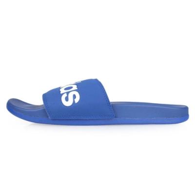 ADIDAS 男 運動拖鞋 藍白