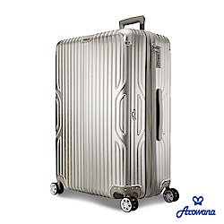 【Arowana 亞諾納】 時光韻律29吋PC防爆拉鍊立體拉絲旅行箱/行李箱 (多色任選)
