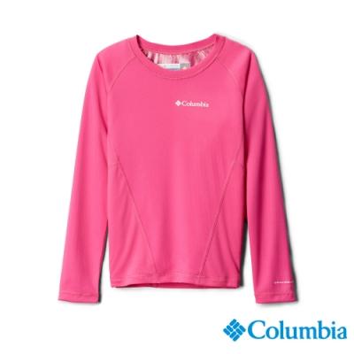 Columbia 哥倫比亞 童款- Omni-HEAT 鋁點保暖快排內著上衣-粉紅