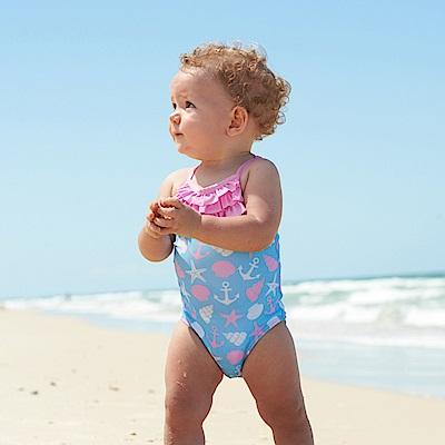 澳洲 RASHOODZ 兒童抗UV防曬一件式連身泳裝 (海洋甜心)