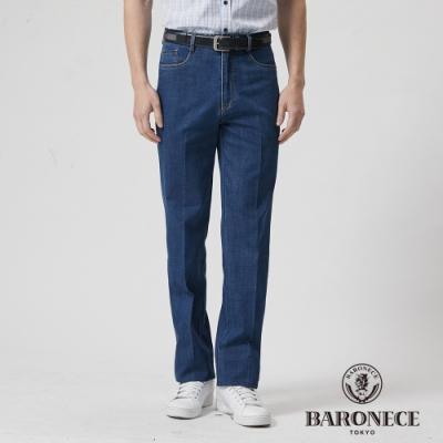 BARONECE 百諾禮士休閒商務  男裝 L袋型合身彈性牛仔丹寧長褲-藍色(1188897-38)