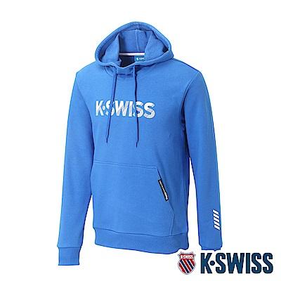K-SWISS KS Logo Hoodie 連帽上衣-男-藍