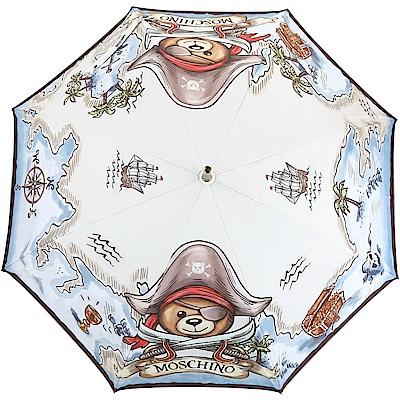 MOSCHINO 海盜泰迪熊圖案自動直立傘(水藍色)