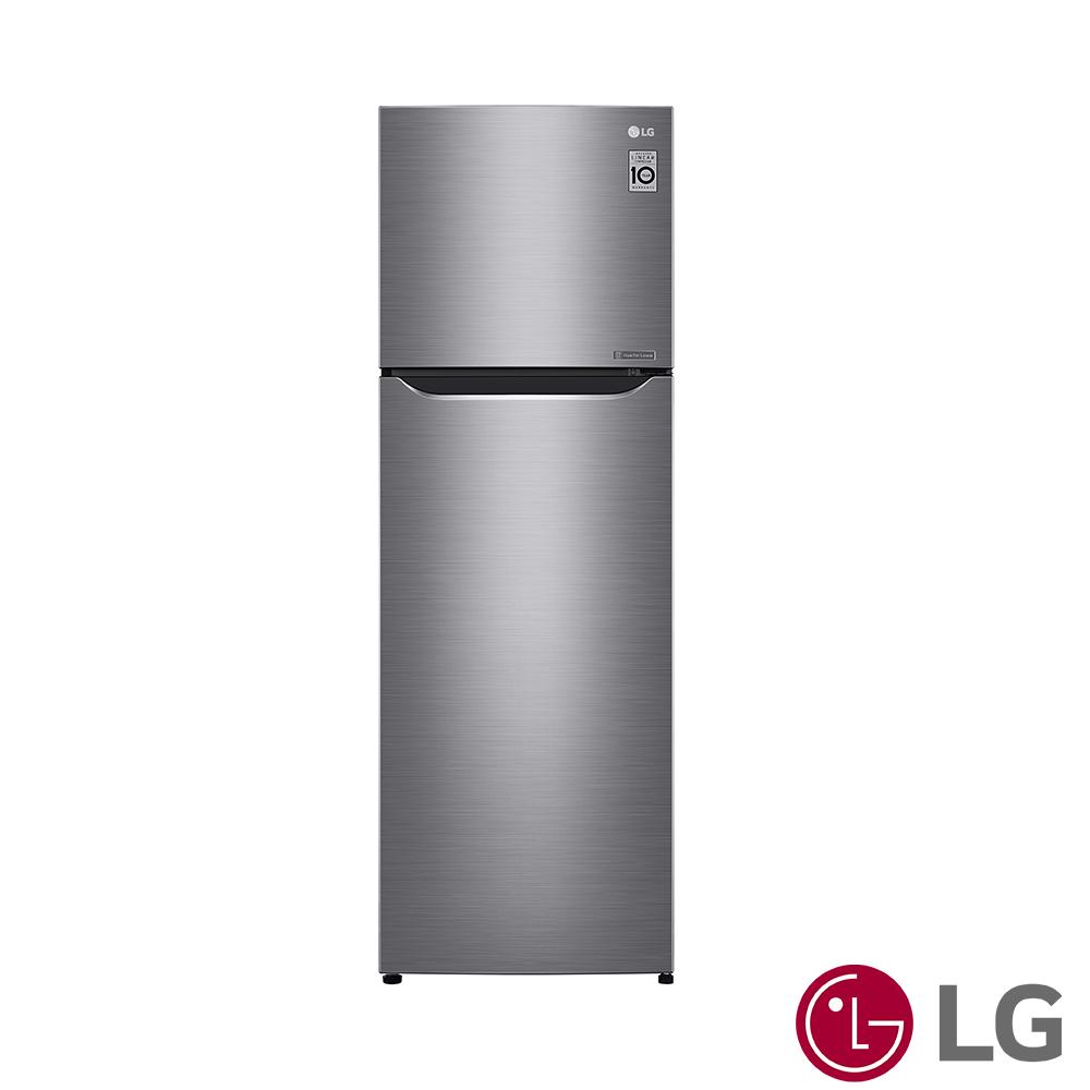 [時時樂限定]LG樂金 253L 一級能效直驅變頻上下門冰箱(精緻銀)GN-L307SV
