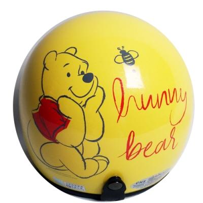 維尼熊安全帽 小帽款 (黃)