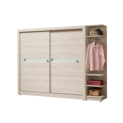 H&D 幸運草8.5尺組合衣櫃