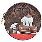 LV M62088經典Monogram北極熊印花圓形零錢包