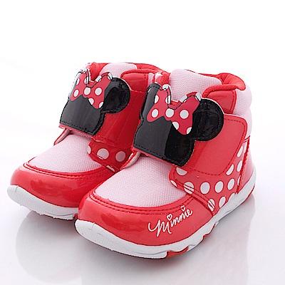 迪士尼童鞋 淘氣米妮短靴款 FO54610粉(中小童段)