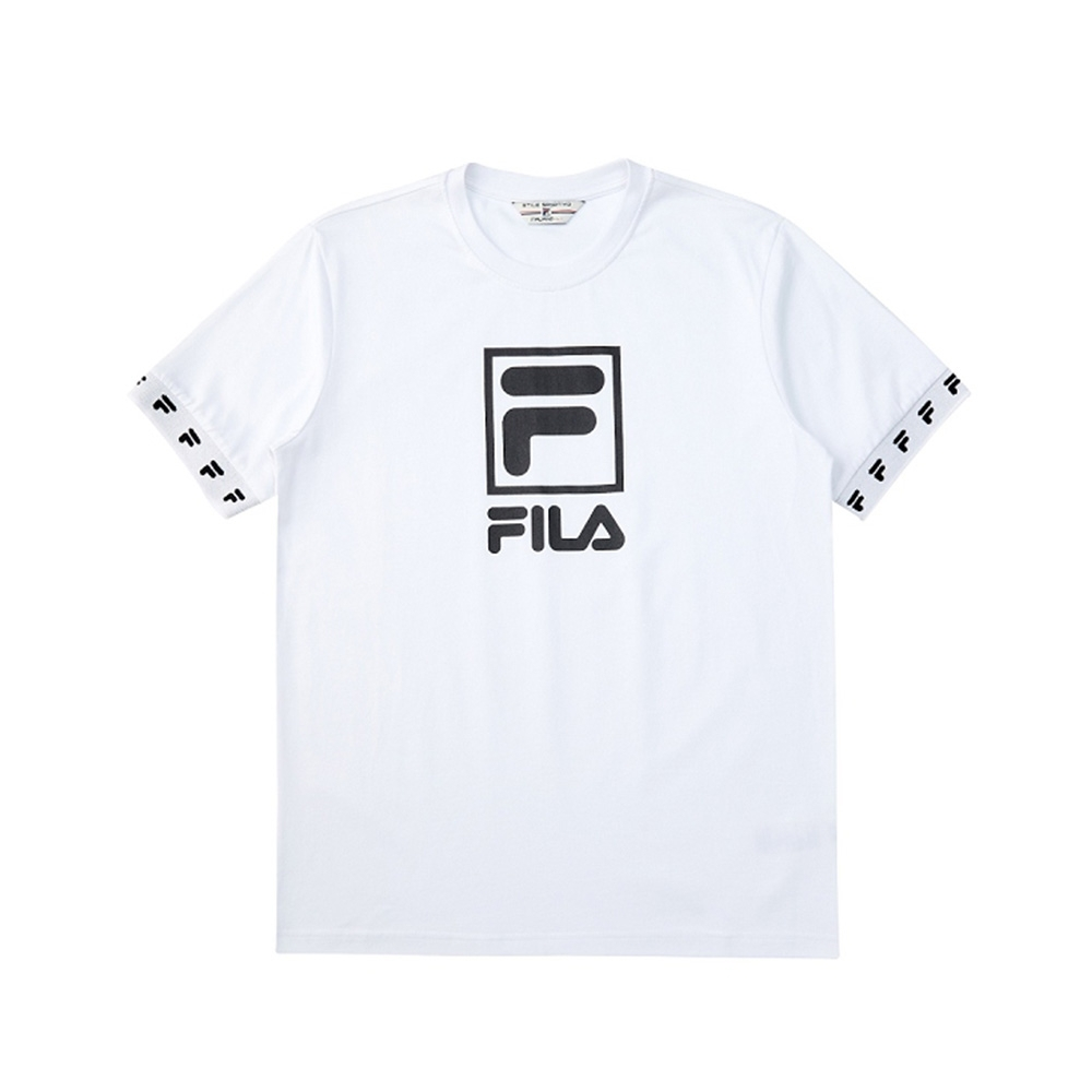 FILA #架勢新潮 短袖圓領T恤-白色 1TEV-1416-WT