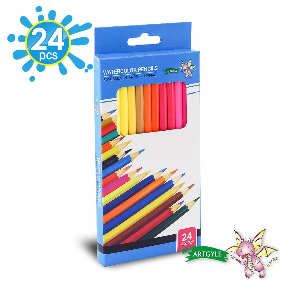 美國ARTGYLE 24色水溶性彩色鉛筆繪畫組