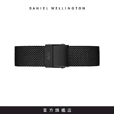 DW 錶帶 14mm 寂靜黑米蘭金屬編織錶帶