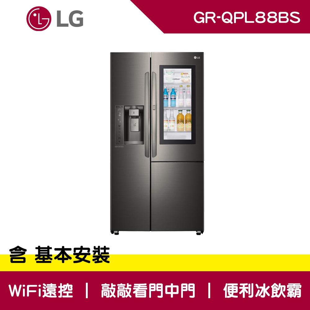 LG樂金 761公升 WiFi 敲敲看 門中門 變頻對開冰箱 GR-QPL88BS