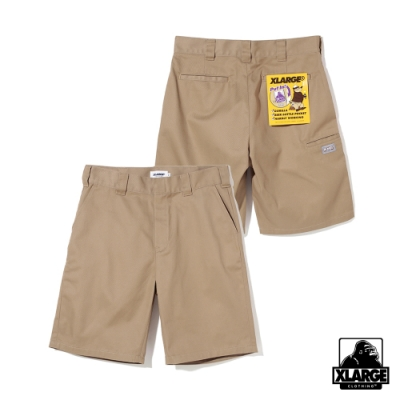 XLARGE SIDE PKT WORK SHORT 短工作褲-卡其
