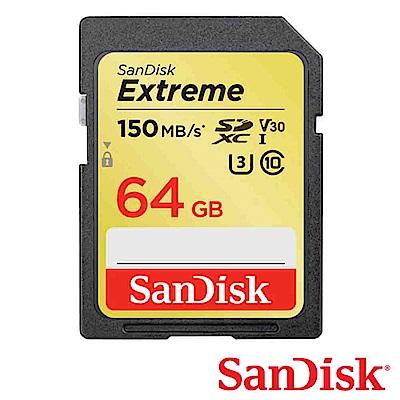 SanDisk 64G Extreme U3 SDXC UHS-I V30 記憶卡