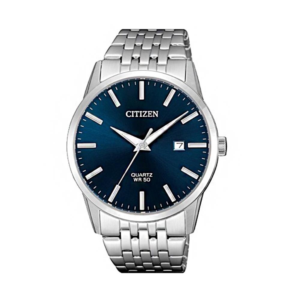 CITIZEN 一品雅爵夜光石英腕錶(BI5000-87L)-藍x39mm