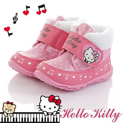 HelloKitty童鞋 保暖絨毛輕量減壓抗菌防臭高筒雪靴鞋-粉