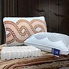 Hilton希爾頓 純手工經典款/雕花水晶絨獨立筒枕 1入