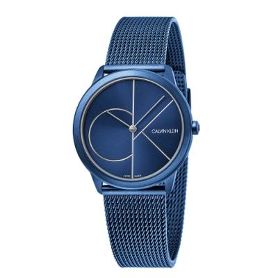 CALVIN KLEIN minimal 系列簡約腕錶-藍色藍面/35mm