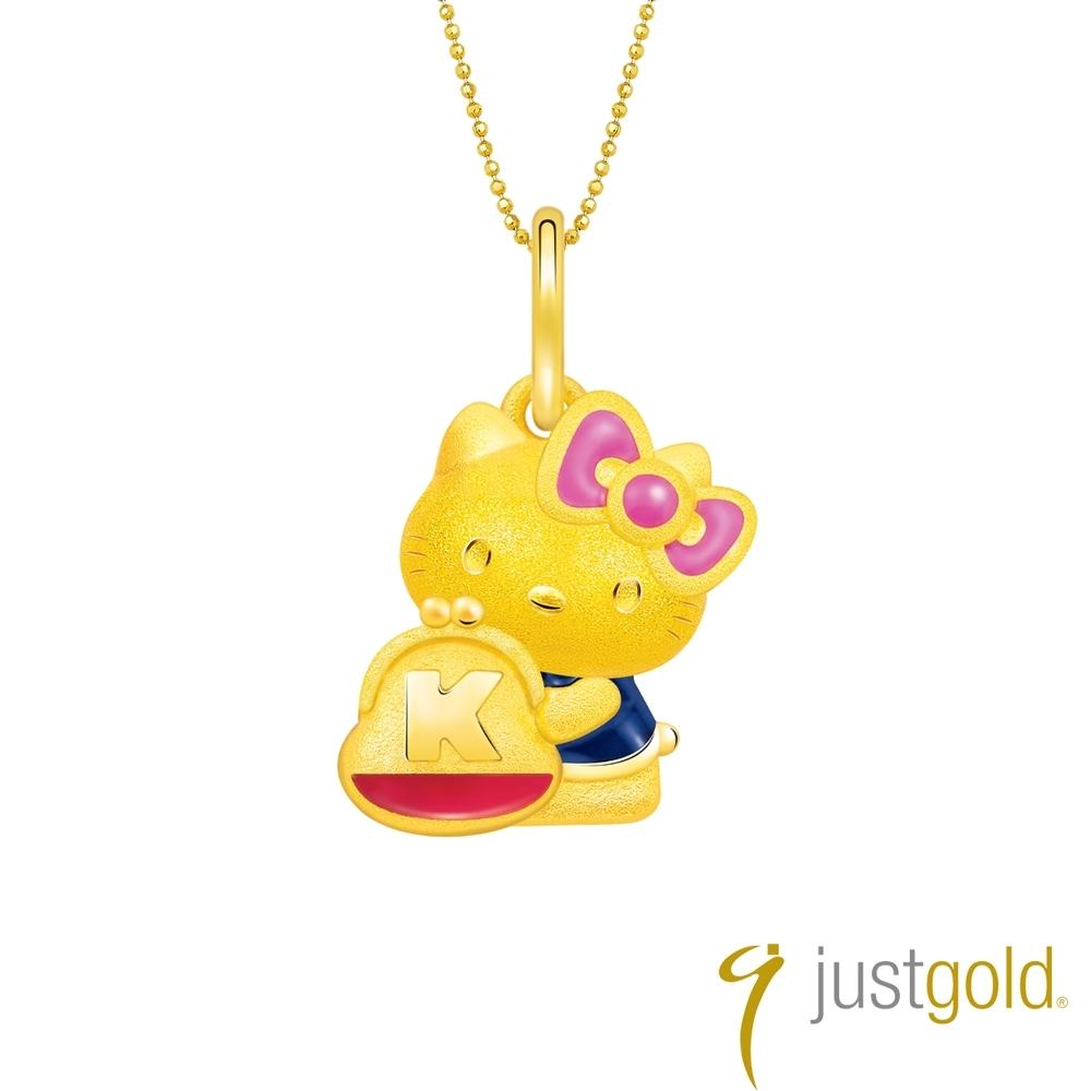 鎮金店Just Gold Hello Kitty 45周年純金系列 黃金墜子-零錢包
