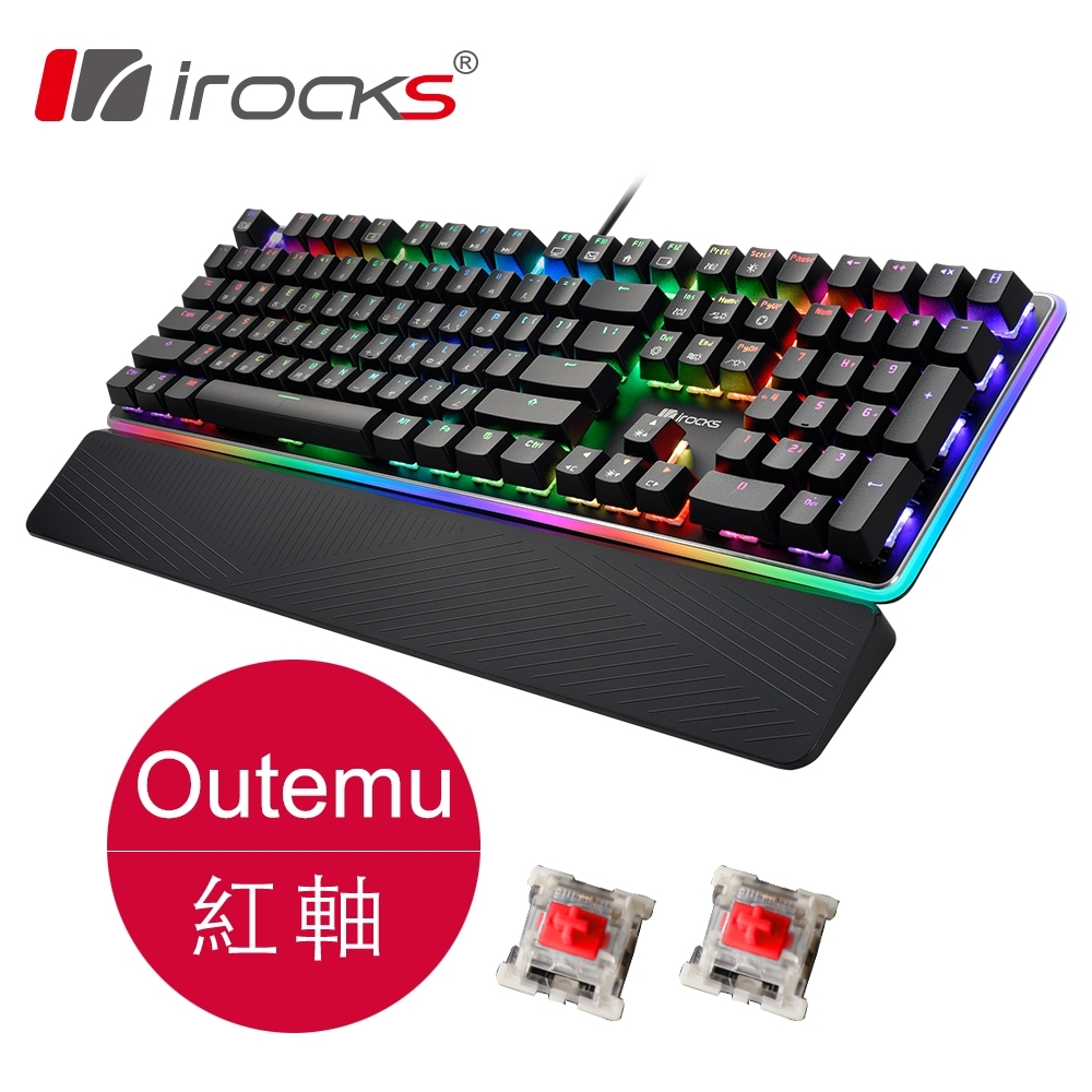 irocks K61M RGB背光機械式鍵盤-紅軸
