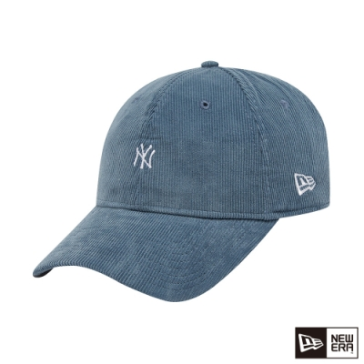 NEW ERA 9FORTY 940UNST 燈心絨MINI LOGO 洋基 藍 棒球帽