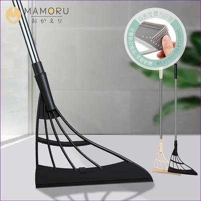 【MAMORU】乾濕兩用矽膠魔術刮刀拖把(刮拖/掃把/拖把)