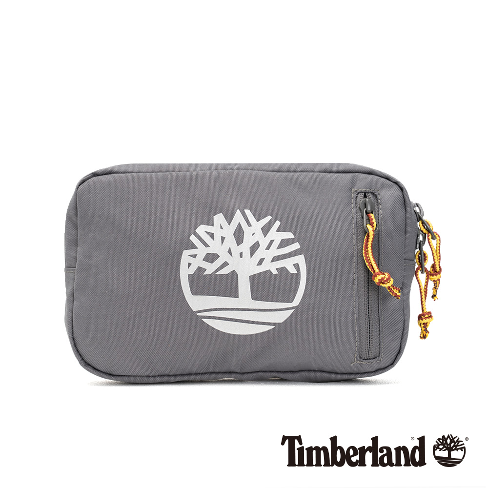 Timberland 中性中灰色大樹標誌印花插扣腰包|A1CV9