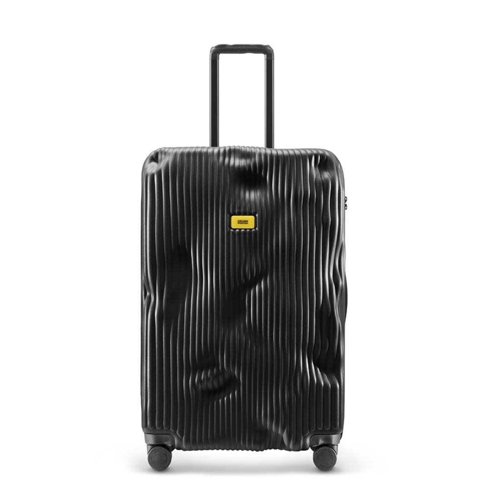 【Crash Baggage】Stripe拉鍊款29吋條紋酷黑防撞行李箱