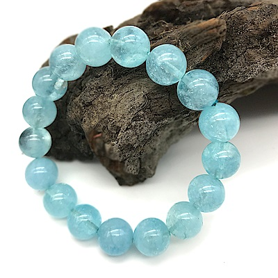 Hera 赫拉 頂級冰沁海水藍寶手珠(10mm)