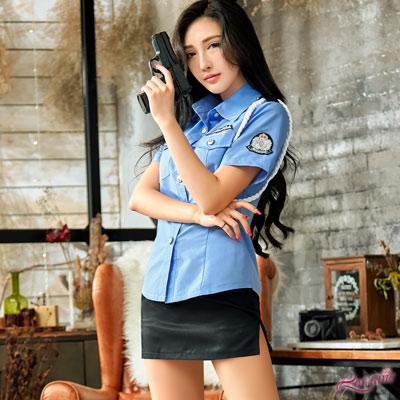軍警 俏麗藍色女警角色扮演服二件組(藍F) Lorraine
