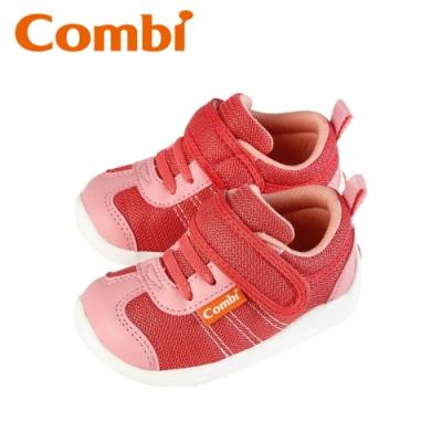 日本Combi童鞋 時尚紐約幼兒機能鞋-魔力紅