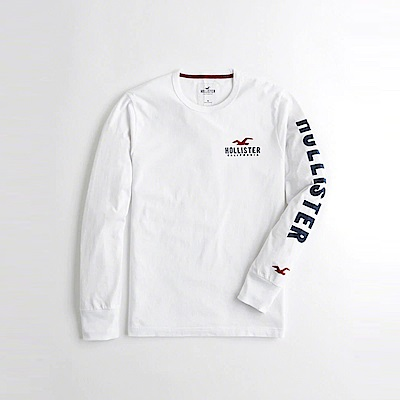 Hollister HCO 長袖 T恤 白1090