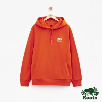男裝Roots BREATHE連帽上衣-橘