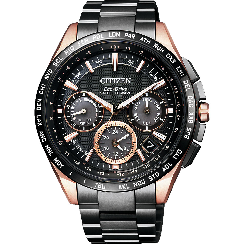 CITIZEN 星辰 GPS 光動能衛星對時超級鈦金屬腕錶-黑/43mm @ Y!購物