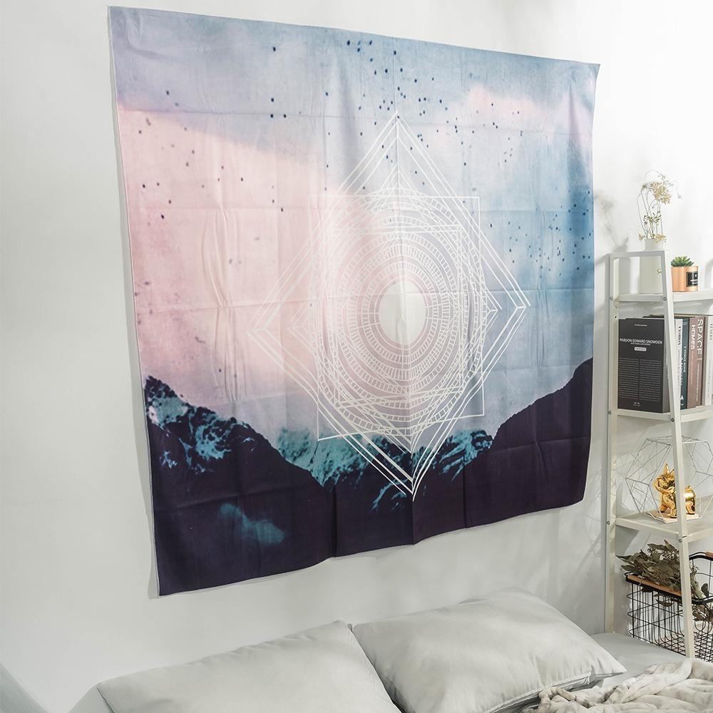 樂嫚妮 北歐裝飾掛毯/掛布/門簾/桌巾-幾何天空 150X130cm