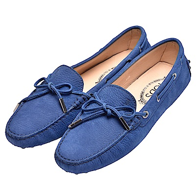 TOD-S 經典GOMMINO MOCASSINO系列牛皮豆豆鞋(女-皇家藍)