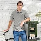 JEEP 手繪造型圖騰短袖POLO衫-灰色