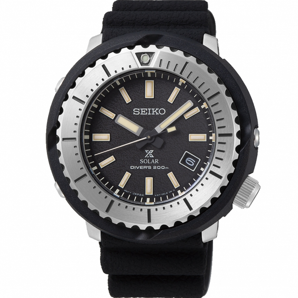 SEIKO PROSPEX 小鮪魚太陽能潛水錶(SNE541P1)46mm/V157-0DD0D